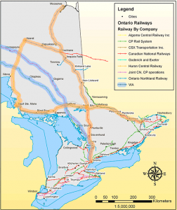 Northern and Eastern Ontario Rail Network